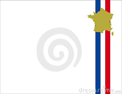 France flag background and map