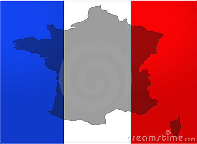 France flag with country