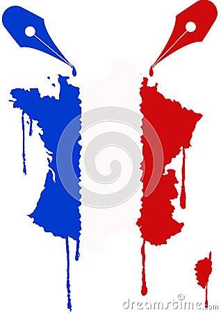 France flag nib