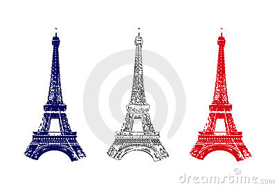 France flag with Tour Eiffel