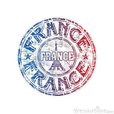 France grunge rubber stamp