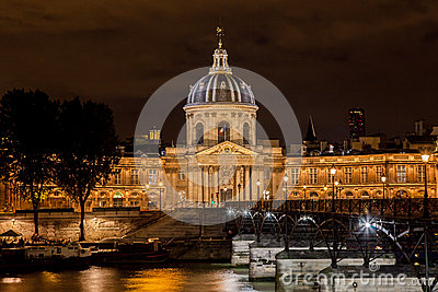 France Institut in Paris at night