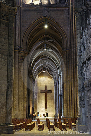 France. Interior of Cathedrale de Chartres