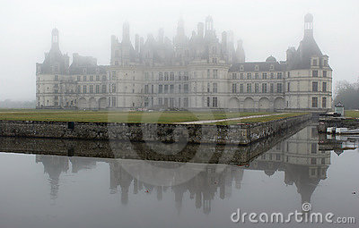 France. Loire Valley. View on Chambord castle