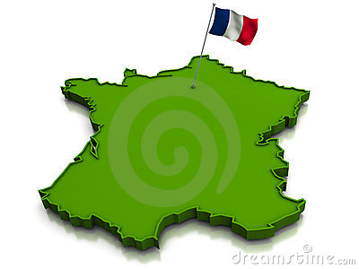 France - Map and Flag