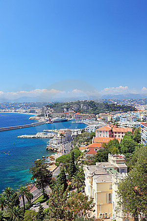 Free France Nice Harbour Harbor Port View French Riviera Cote Dazur Cruise Ships Ferry Royalty Free Stock Photography - 13740287