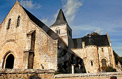 France, Normandie: Saint Wandrille Church