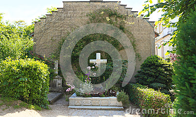 France, Normandy/Giverny: Family Grave of Claude Monet Editorial Stock Photo