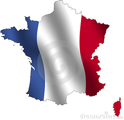 Free France Outline Royalty Free Stock Photo - 44805