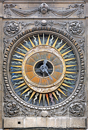 France, Paris: The clock of st Paul church