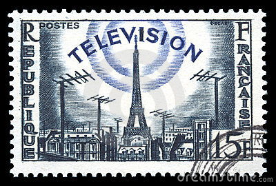 France postage stamp television development