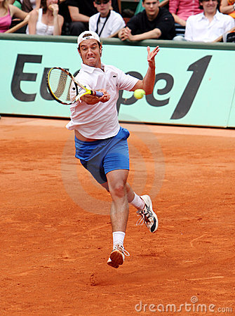 France s Richard Gasquet at Roland Garros Editorial Image