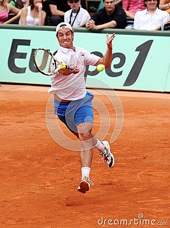 France s Richard Gasquet at Roland Garros Editorial Image
