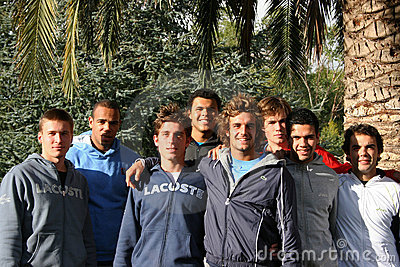 France s tennis team attends a practice session Editorial Stock Photo