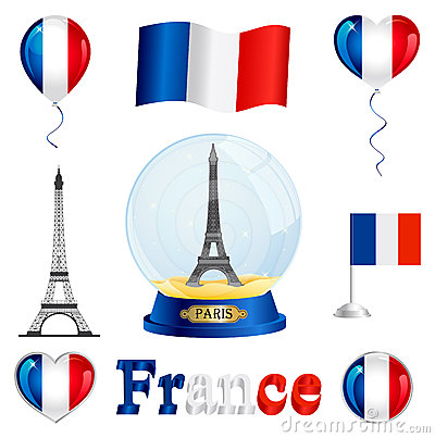 Free France Set Royalty Free Stock Photos - 24526148