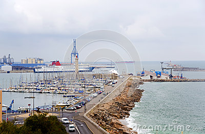 France. Sete.  An output from  port to the gulf