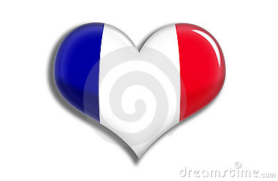 France shiny heart