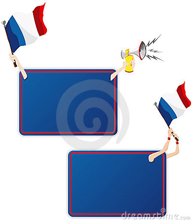 France Sport Message Frame with Flag.