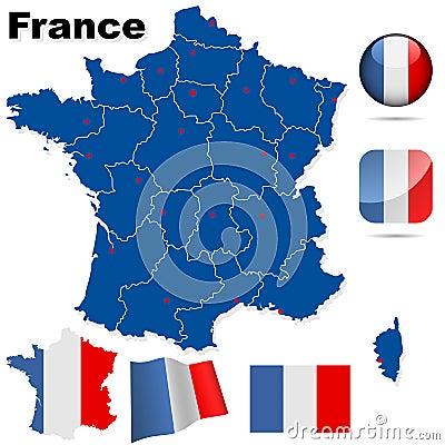 France vector set.
