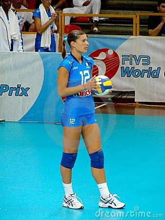 Francesca Piccinini, Italian volleyball team Editorial Stock Image