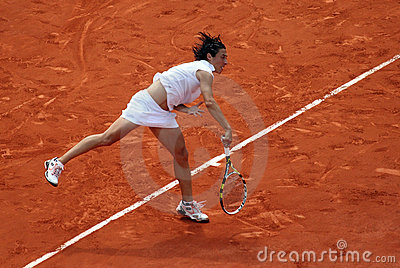 Francesca SCHIAVONE (ITA) at Roland Garros 2010 Editorial Stock Photo