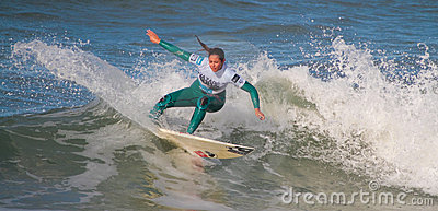 Francisca Sousa in Nazare Surf Pro 2010 Editorial Photo