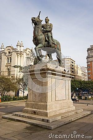 Franco статуя Испании