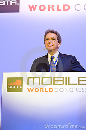 Franco Bernabè, CEO of Telecom Italia Editorial Image