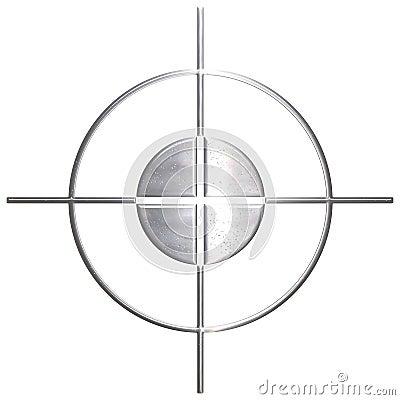 Francotirador corroído del metal