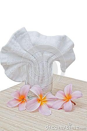 Frangipani and handkerchief