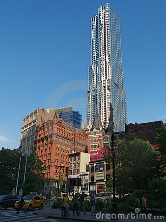 Frank Gehry new tower at 8 Spurce St New York Editorial Stock Photo