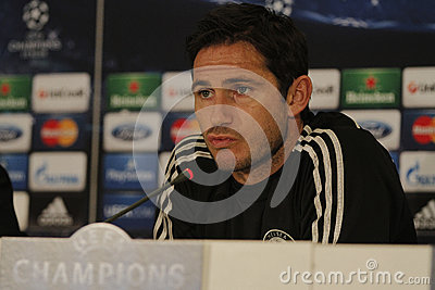 Frank Lampard of Chelsea - Press Conference Editorial Stock Photo