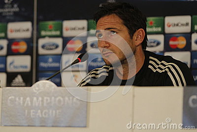 Frank Lampard of Chelsea - Press Conference Editorial Image