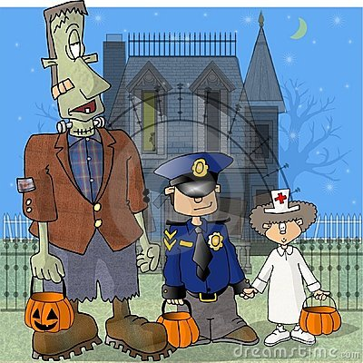 Frank & two friends Cartoon Illustration