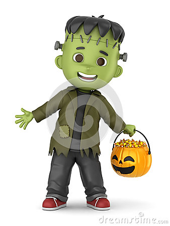 Free Frankenstein Boy Stock Photography - 44929952