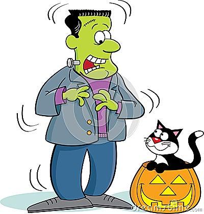 Frankenstein and Cat