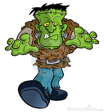 Free Frankenstein Monster Cartoon Illustration Stock Image - 11771241
