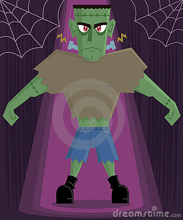 Frankenstein Monster halloween character vector