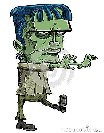 Frankenstein Monsterkarikatur