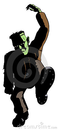 Frankenstein's Monster Dances : Dreamstime