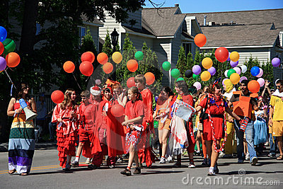 Frankfort, Michigan Parade Editorial Stock Image