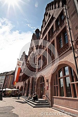 Frankfurt Central Square Editorial Stock Image