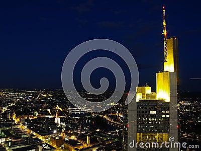 Frankfurt city night scene