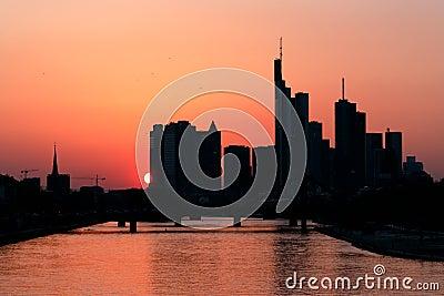 Frankfurt at dawn