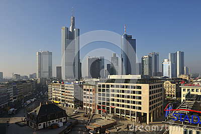 Frankfurt Hauptwache Editorial Stock Image