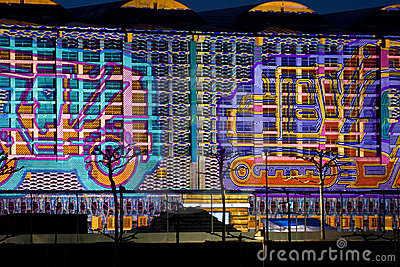 Frankfurt Luminale Grossmarkthalle Buildingsite Editorial Stock Photo