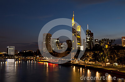 Frankfurt am Main in night lights