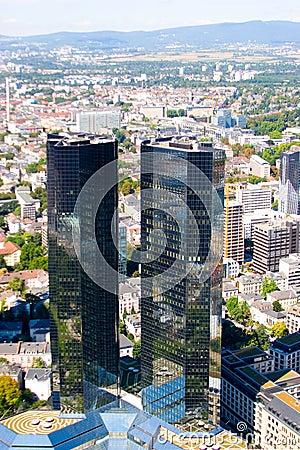Frankfurt-on-Main view from skyscraper