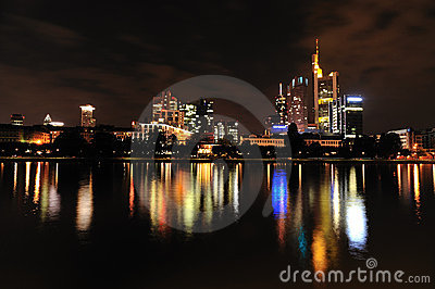 Frankfurt at night Editorial Photography