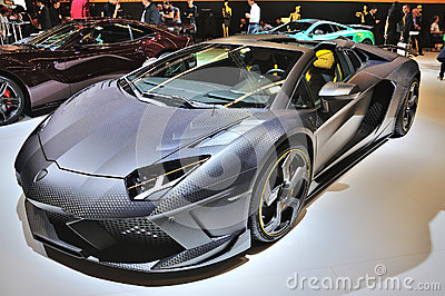FRANKFURT - SEPT 14: Lamborghini Aventador Carbonado by Mansory Editorial Photo